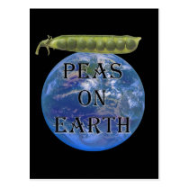Peas on Earth Postcard