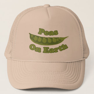 Peas on Earth Trucker Hat