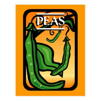Peas Postcard