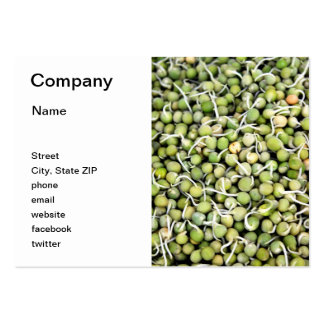 Peas Sprouts Large Business Card