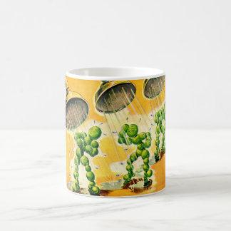 peas taking showers coffee mug