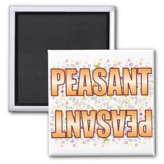 Peasant Bubble Tag 2 Inch Square Magnet