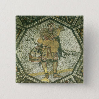 Peasant carrying a ewe and a basket of cheese pinback button