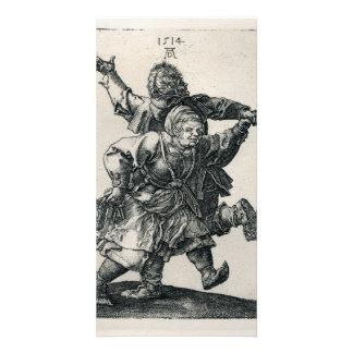 Peasant Couple Dancing by Albrecht Durer, 1514 Card