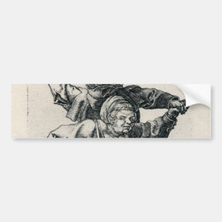 Peasant Couple Dancing by Albrecht Durer Bumper Sticker