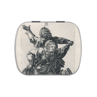 Peasant Couple Dancing by Albrecht Durer Candy Tin