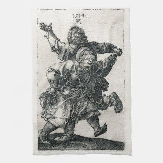 Peasant Couple Dancing by Albrecht Durer Kitchen Towel