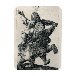 Peasant Couple Dancing by Albrecht Durer Rectangular Photo Magnet