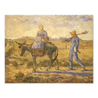 Peasant Couple Going to Work by Vincent van Gogh Card
