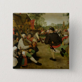 Peasant Dance,  1568 Pinback Button