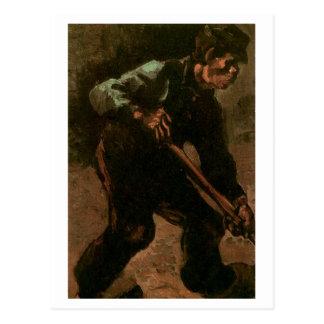 Peasant Digging, Vincent van Gogh Postcard
