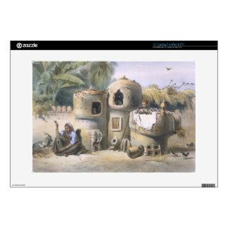 "Peasant Dwellings in Upper Egypt, illustration fro 15"" Laptop Skin"