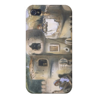 Peasant Dwellings in Upper Egypt, illustration fro iPhone 4 Covers