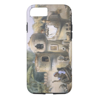 Peasant Dwellings in Upper Egypt, illustration fro iPhone 8/7 Case