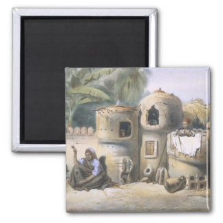 Peasant Dwellings in Upper Egypt, illustration fro Magnet