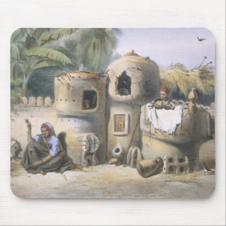 Peasant Dwellings in Upper Egypt, illustration fro Mouse Pad
