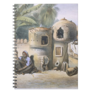 Peasant Dwellings in Upper Egypt, illustration fro Notebook
