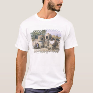 Peasant Dwellings in Upper Egypt, illustration fro T-Shirt