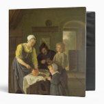Peasant Family at Meal time, c.1665 3 Ring Binder