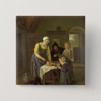 Peasant Family at Meal time, c.1665 Button