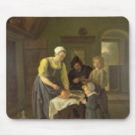 Peasant Family at Meal time, c.1665 Mouse Pad
