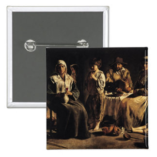 Peasant Family in an Interior, c.1643 Pinback Buttons