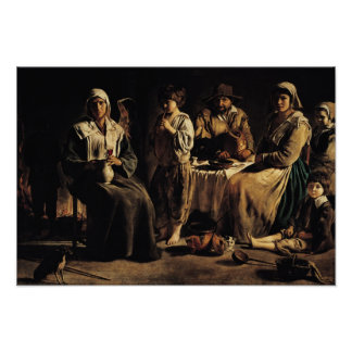 Peasant Family in an Interior, c.1643 Poster