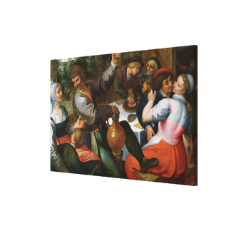 Peasant Feast, 1566 Canvas Print