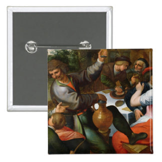 Peasant Feast, 1566 Pinback Button