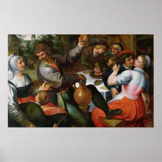 Peasant Feast, 1566 Poster