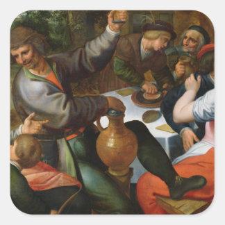Peasant Feast, 1566 Square Sticker