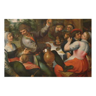Peasant Feast, 1566 Wood Wall Art