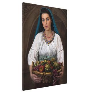 Peasant Girl Serving (Wrap-Around Canvas Print)