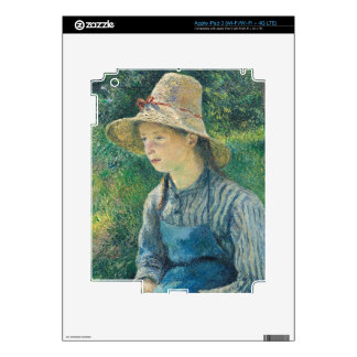 Peasant Girl with a Straw Hat, 1881 iPad 3 Decals