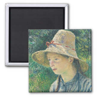 Peasant Girl with a Straw Hat, 1881 Magnet