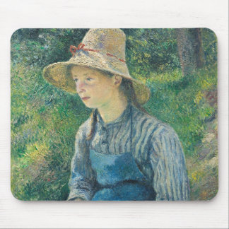 Peasant Girl with a Straw Hat, 1881 Mouse Pad