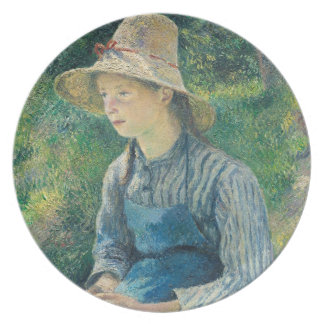 Peasant Girl with a Straw Hat, 1881 Plate