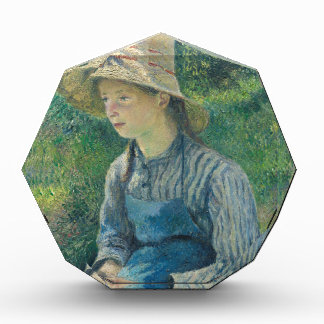 Peasant Girl with a Straw Hat by Camille Pissarro Award