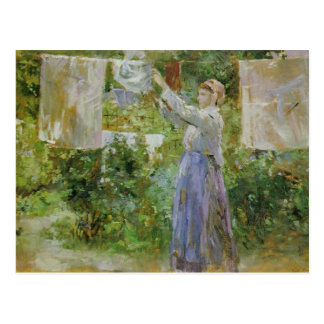 Peasant Hanging Out the Washing Postcard