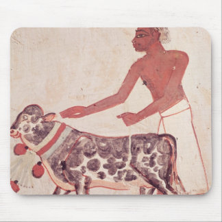 Peasant leading a cow to sacrifice mouse pad