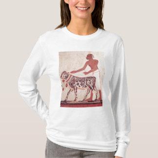 Peasant leading a cow to sacrifice T-Shirt