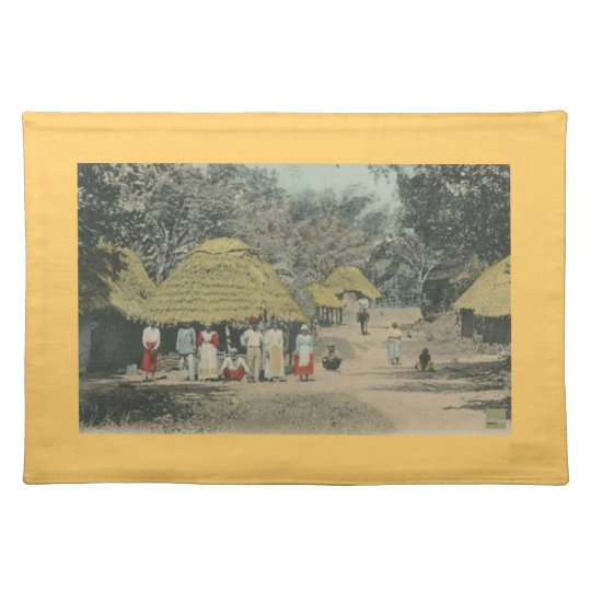 Peasant life cloth placemat