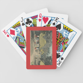 Peasant life bicycle playing cards