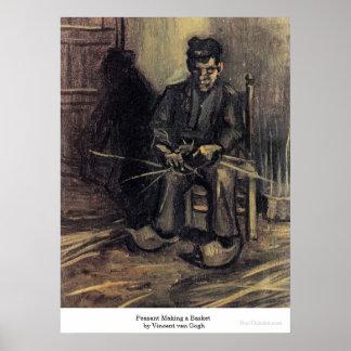 Peasant Making a Basket by Vincent van Gogh Posters