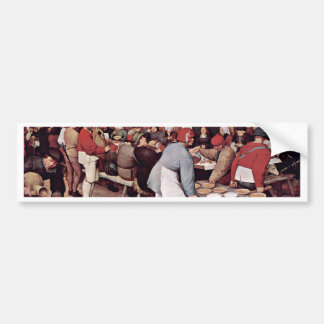 Peasant Wedding By Bruegel D. Ä. Pieter Bumper Sticker