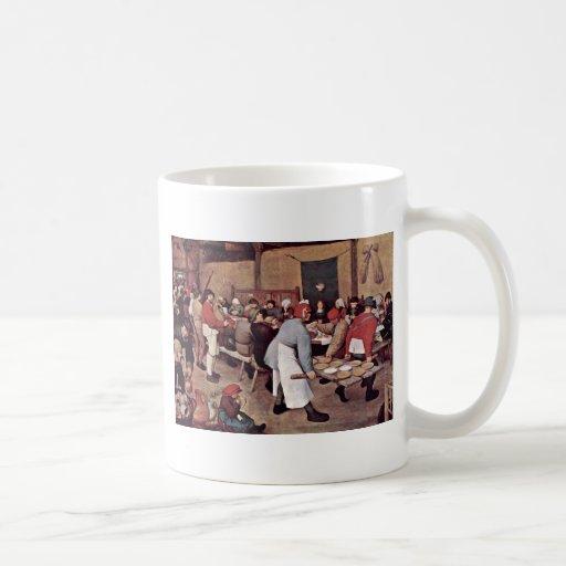 Peasant Wedding By Bruegel D. Ä. Pieter Classic White Coffee Mug