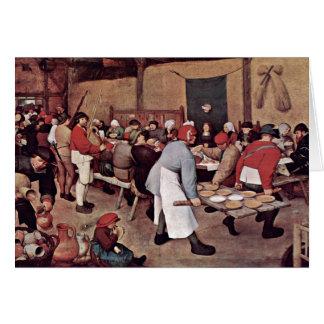 Peasant Wedding By Bruegel D. Ä. Pieter Greeting Card