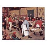 "Peasant Wedding By Bruegel D. Ä. Pieter 4.25"" X 5.5"" Invitation Card"