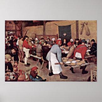 Peasant Wedding By Bruegel D. Ä. Pieter Poster