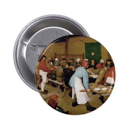 Peasant Wedding by Pieter Bruegel the Elder Button